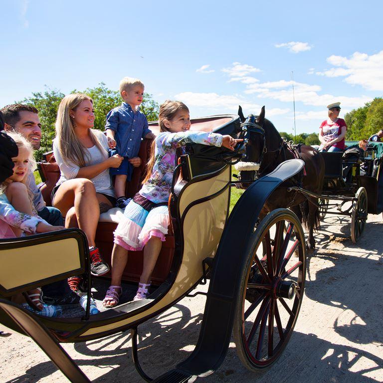 Häst- och vagn på Bakken