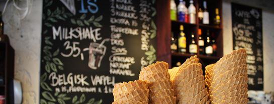Bakken Cafe Is Fastfood Elverdybet Kage Gammeldags Isvaffel
