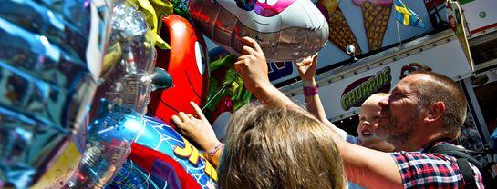 Bakken Stemning Familie Balloner Sjov