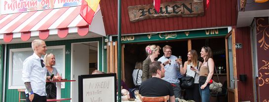 Bakken Pub Bar Hulen Facade Gruppe Voksen Stemning