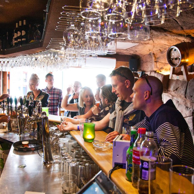 Bakken Pub Bar Hulen Gruppe Voksen Stemning Øltour