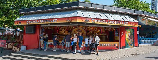 Bakken Spil Sjov Chokoladespillet Facade