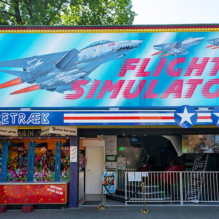 Fly Simulatoren - Højt at flyve på Bakken
