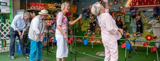 Bakken Stemning Gruppe Senior Voksen Golfbanen