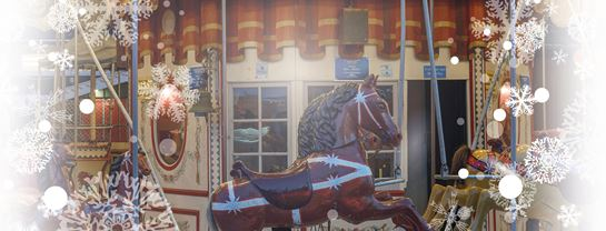Jul paa Bakken Nyhed Forlystelser Hestekarrusellen