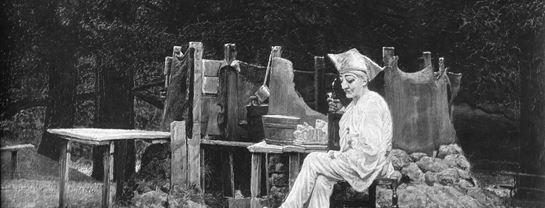 Bakkens Historie Maleri Kr Zahrtmann 1880 Pjerrot med pibe Københavns Bymuseum