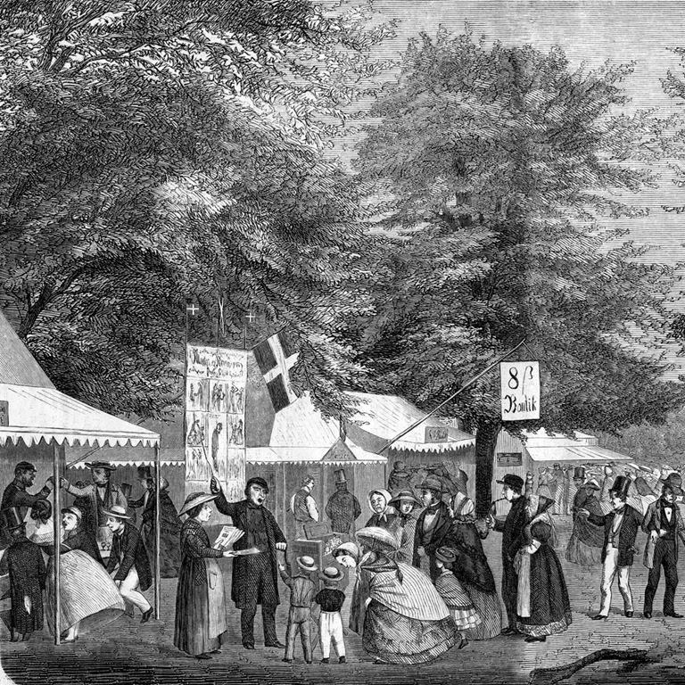 Bakkens Historie Dyrehavsbakken 1861 Københavns Bymuseum