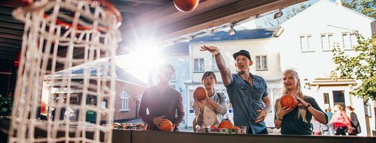 Bakken Spil Sjov Mini Basket Unge Gruppe