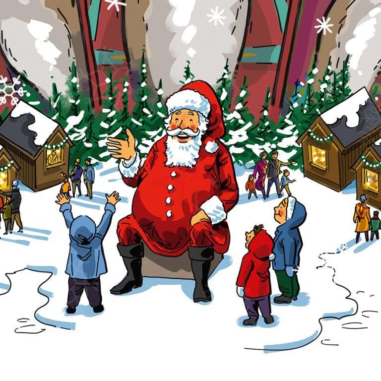 Mød Julemanden i Nisseskoven på Bakken