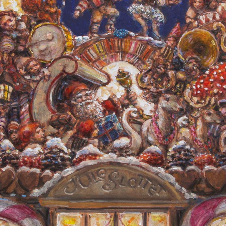 Juleslottet males af Jeppe Eisner - En del af Jul på Bakken