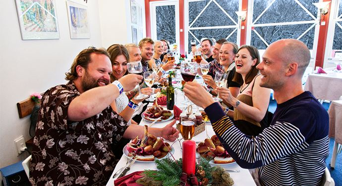 Bakken Jul Julefrokost Gruppe Mad Restaurant