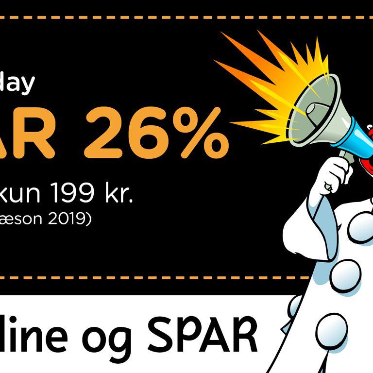 Ekstraordinært Black Friday tilbud på turbånd til 2019!