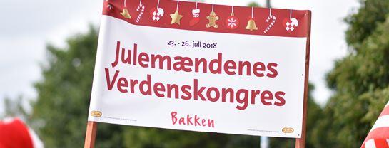 Julemændenes Verdenskongres JMV Parade København Skilt Banner