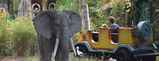 Bakken Boerneforlystelse Jeepen Elefant