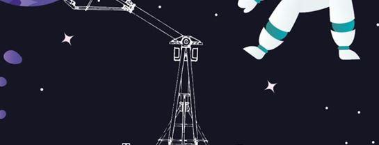 Bakken Forlystelse 2020 Logo Illustration SUPERNOVA Tegning