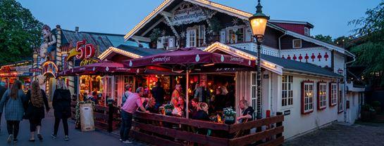 Pub Bar Beværtning Sommerlyst Aften Stemning Fest